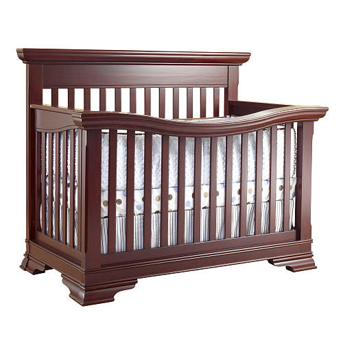 Lusso Nursery Manchester Collection 4-in-1 Convertible Crib with Mini Rail - Merlot