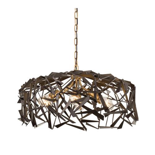 Bermuda 6-Light Pendant Light [Finish : 286P06AGRB - Antique Gold \/ Rustic Bronze]