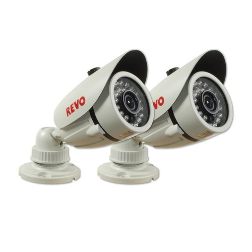 1200 TVL Indoor/Outdoor Bullet Surveillance Camera with 100 ft. Night Vision (2-Pack)