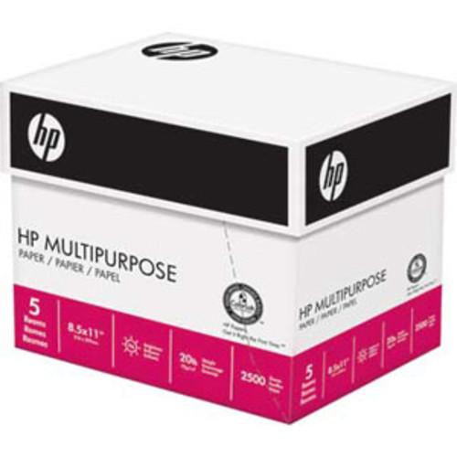 HP Multi-Purpose 8.5 x11 Copy Paper, 5 Ream Case, 20lb 96 Bright - 2500 Sheets