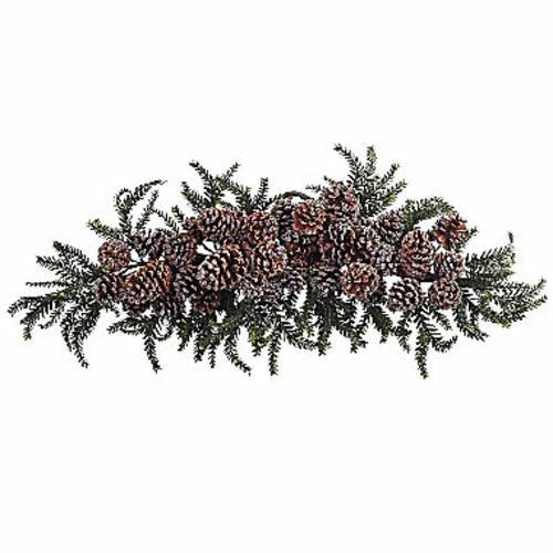 Nearly Natural 26in Teardrop Indoor Christmas Wreath