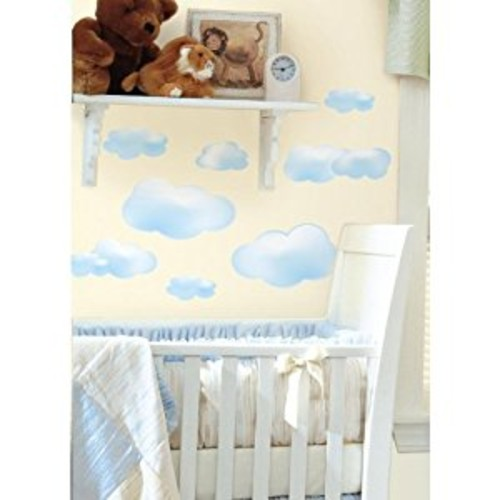 RoomMates RMK1250SCS Clouds Peel & Stick Wall Decals, 19 Count [Multi]