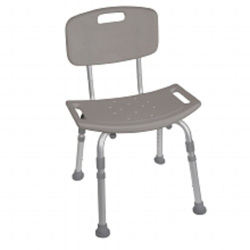 Drive Medical Bathroom Safety Shower Tub Bench Chair with Back