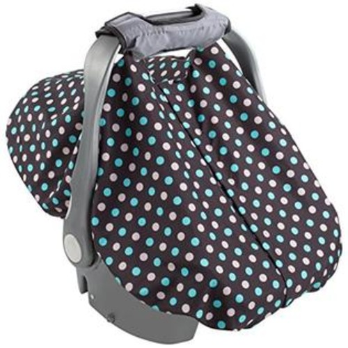 Summer Infant 2-in-1 Carry and Cover Infant Car Seat Cover, Black Dots