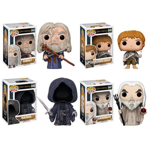 Funko POP! Movies Lord of the Rings Hobbit Collectors Set; Gandalf- Samwise Gamgee- Nazgul- Saruman