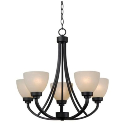 Kenroy Home Dynasty 5-Light Chandelier in Bronze