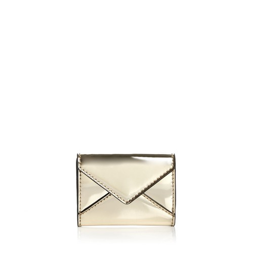 REBECCA MINKOFF Small Metallic Leather Wallet