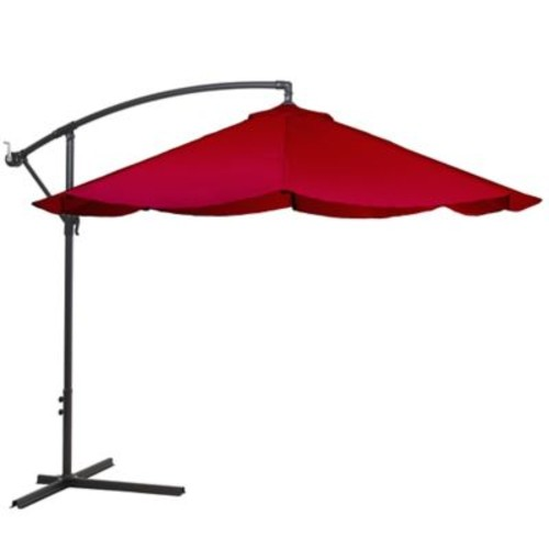 Pure Garden Offset 10 Foot Aluminum Hanging Patio Umbrella, Assorted Colors