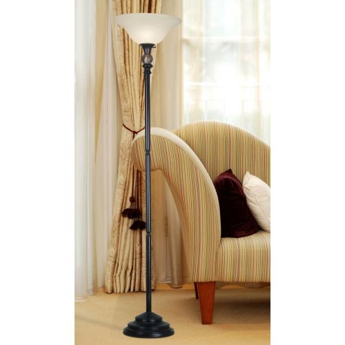 Kenroy Home Plymouth 71 in. Oil-Rubbed Bronze Torchiere