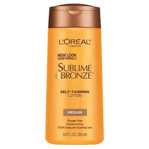 L'Oreal Paris Sublime Bronze Self-Tanning Lotion Medium Natural Tan - 5 fl oz