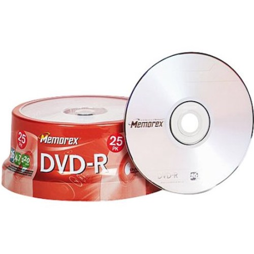 Memorex DVD-R 16x 4.7GB 25 Pack Spindle