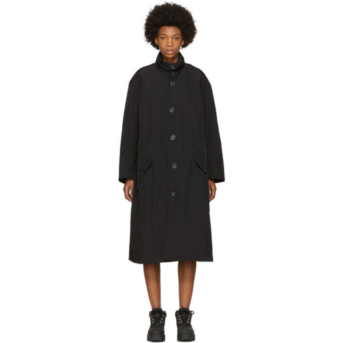 OPENING CEREMONY Black Nylon Trench Coat