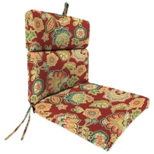Jordan Manufacturing Spun Polyester Dejana Sangria French Edge Chair Cushion - Dejana Sangria