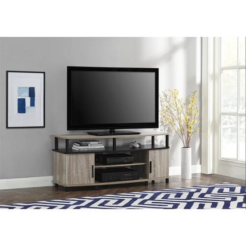 Dorel Home Furnishings Carson Sonoma Oak and Black TV Stand
