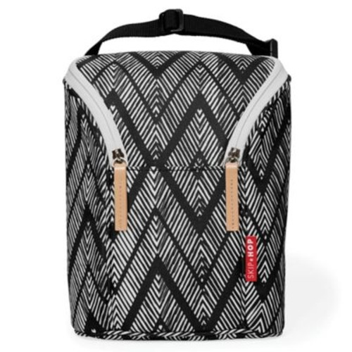 Skip*Hop Grab & Go Double Bottle Bag in Zebra