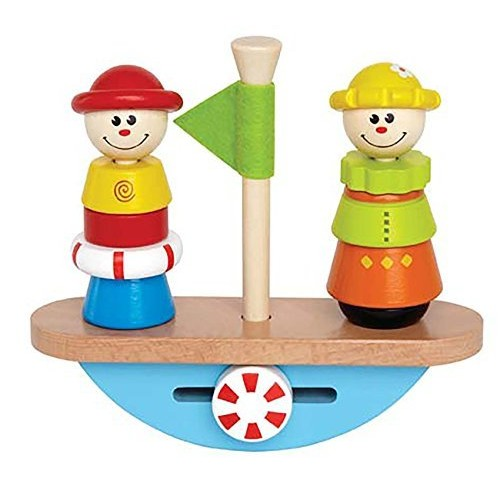 Hape Balance Boat Toddler Wooden Stacking Toy