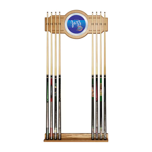 Utah Jazz Hardwood Classics Billiard Cue Rack with Mirror