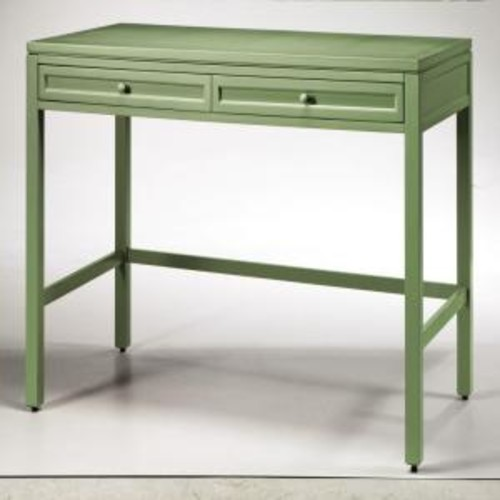 Martha Stewart Living Craft Space 36 in. H 2-Drawer Wood Craft Table in Rhododendron Leaf