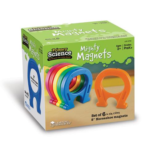 Learning Resources Horseshoe-Shaped Magnets Set Of 6