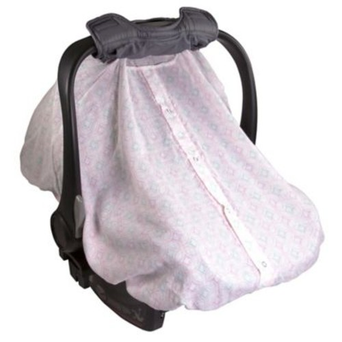 Summer Infant 2-in-1 Carry & Cover Car Seat Canopy in Pink