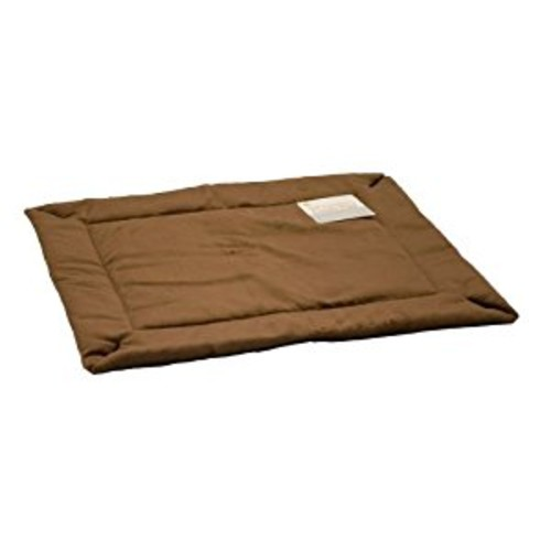 K&H Manufacturing Crate Pad for Pets [Standard Packaging, 25-Inch by 37-Inch, Self-Warming/Mocha]