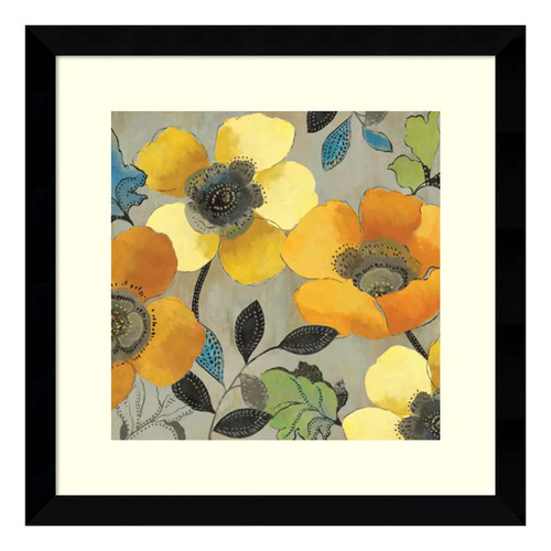 ''Poppies II'' Floral Framed Wall Art