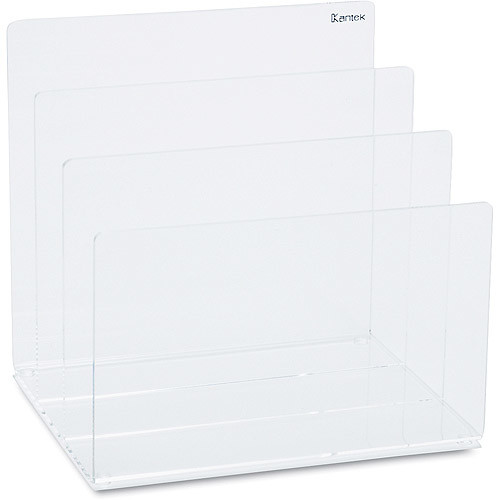 Kantek Acrylic File Sorter, 8 x 6 1/2 x 7 1/2 Inches , Clear (AD45)