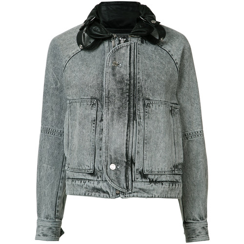 SAINT LAURENT Faded Denim Jacket