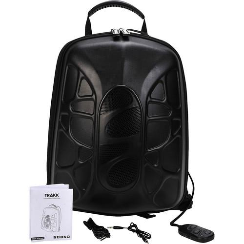 TRAKK Shell Weatherproof Bluetooth Speaker & Power Charging Backpack [Black]