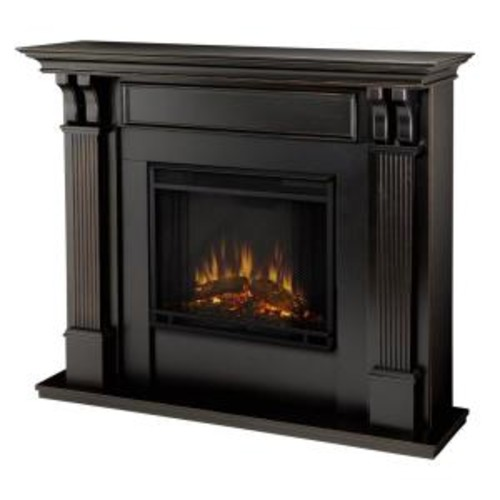 Real Flame Ashley 48 in. Electric Fireplace in Blackwash