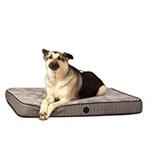 K&H Pet Products Orthopedic Superior Pet Bed [Gray Paw Bone Print, Medium(30