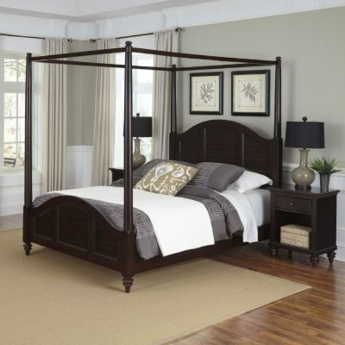 Home Styles 3-piece Bermuda Canopy Bedroom Set