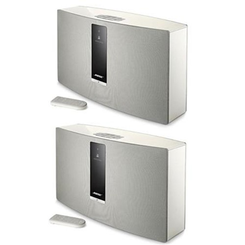 Bose 2x SoundTouch 30 Series III Wireless Music System with Remote Control White