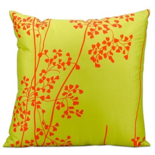 Mina Victory Weeds Outdoor Throw Pillow in Green