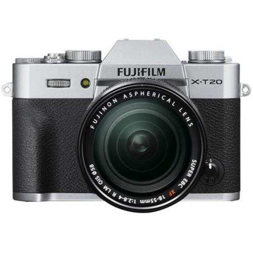 Fujifilm X-T20 Mirrorless Camera w/XF 18-55mm F2.8-4R Lens Silver W/Free Acc Kit