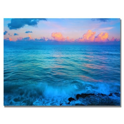 St. Marten's Sunset by Preston, 18x24-Inch Canvas Wall Art [18 by 24-Inch]