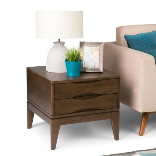 Simpli Home Harper End Side Table in Walnut Brown (3AXCHRP-02)