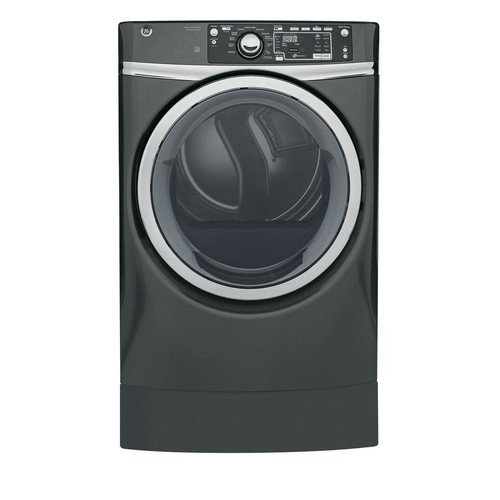 GE 8.3 cu. ft. High Efficiency Electric Dryer with Steam in Diamond Gray, ENERGY STAR