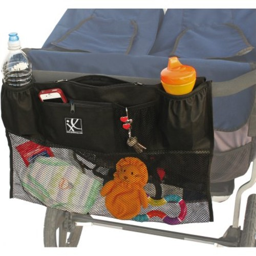 J.L. Childress Double Cargo Double Stroller Organizer [Black]
