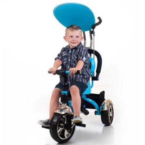 Lil' Rider 2 in 1 Stroller Tricycle in Blue and Black