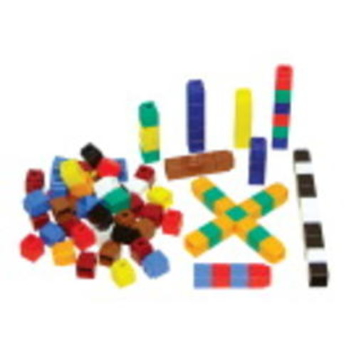 Didax Cubes Unifix 10 Assorted Colors St/500