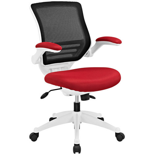 Modway Edge White Base Office Chair with Mesh Back, Multiple Colors