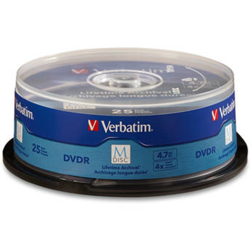 M-Disc 4.7GB DVD-R Discs (Spindle, 25-Pack)