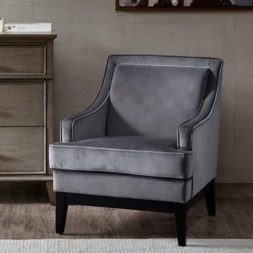 Madison Park Signature Derby Arm Chair in Grey/Black Noir