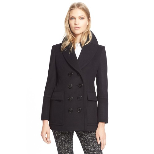 BURBERRY LONDON 'Penncroft' Wool & Cashmere Peacoat