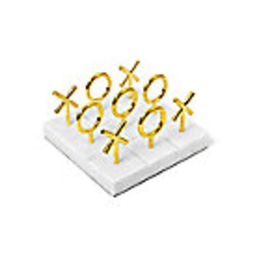 Marble & Brass Tic-Tac-Toe Set