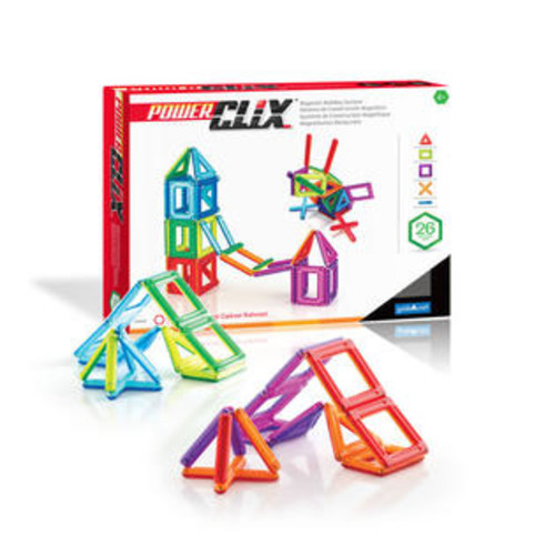 Guidecraft PowerClix Frames 26-Piece Magnetic Construction Set by Guidecraft