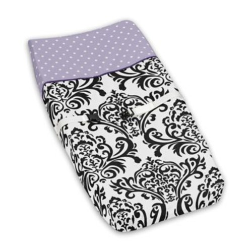 Sweet Jojo Designs Sloane Changing Pad Cover in Purple/White