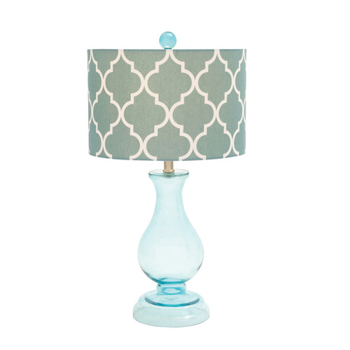 Silver Glass Table Lamp