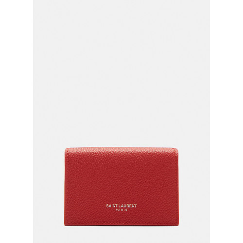 Tiny Leather Wallet in Red